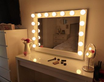 Diy vanity mirror with lights for bathroom and makeup station diy diy vanity mirror with lights for bathroom and makeup station diy makeup mirror black makeup vanity and hollywood vanity mirror aloadofball Gallery