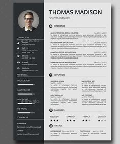 Creativecvtemplateprofessionalcv Creativecvtemplatefree
