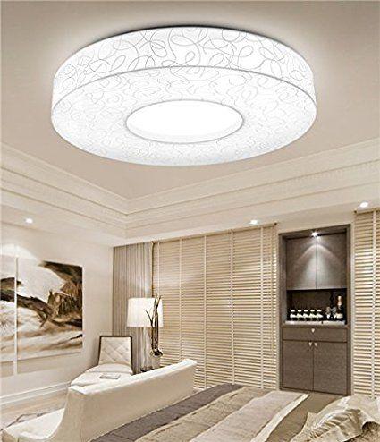 Deckenleuchte 71392 modern, Metall, Stoff, grau, rund - deckenleuchte led wohnzimmer