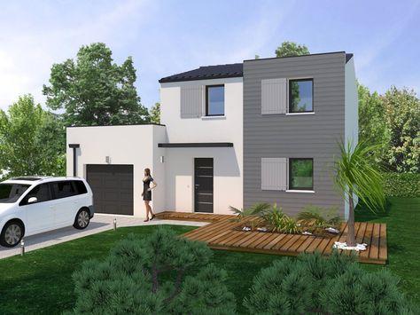 Maison contemporaine sur terrain en pente avec piscine à débordement - plan maison terrain pente