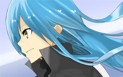 Download Wallpapers Rimuru Tempest Close Up Dai Mao Blue Hair