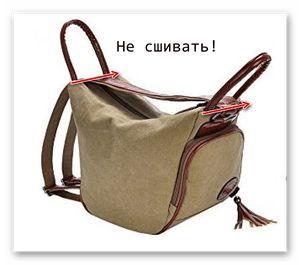 0e35b1dc72f8 Шьем сумки Легко и Просто!. Сумка-рюкзак «Фристайл». Выкройка и техническое  описание процесса шитья. - Шьем сумки Легко и Просто!