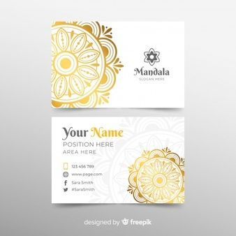 Download Modern Business Card Template With Mandala For Free Modern Business Cards Business Card Template Card Template
