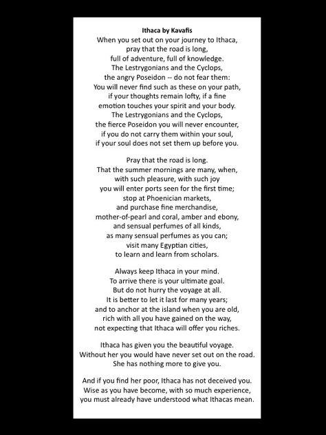 Ithaca By Kavafis The Ultimate Poem Mooie Woorden