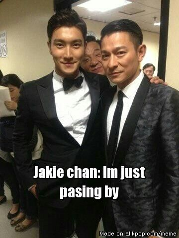 Jackie Chan just passing by