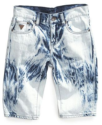 GUESS Boys  Tie-Dye Denim Shorts  3a51ed170803