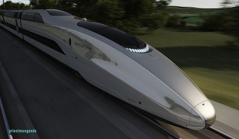 A new futuristic concept high-speed bullet train named Mercury, designed by Priestmangoode has been unveiled in the UK, that would be capable of speeds upto 225 mph.