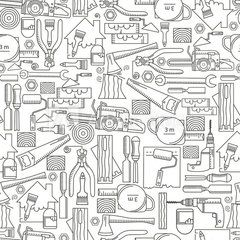 Seamless Pattern Construction Tools Construction Tools Seamless Patterns Wallpaper
