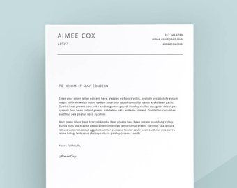 Cover Letter Template Etsy Resume Format Cover Letter Template Letter Templates Lettering