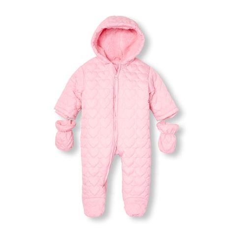 9d442a689 Baby Girls Long Sleeve Quilted Heart Snowsuit | Products | Одежда