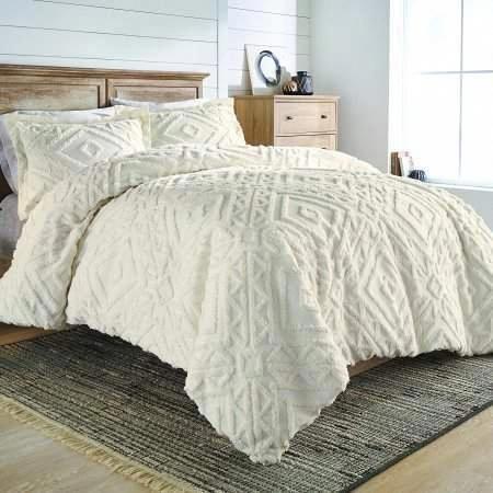 Better Homes And Gardens Chenille 3 Piece Duvet Cover Set King Ivory Walmart Com Bedroom Layouts Bedroom Trends Bedroom Design