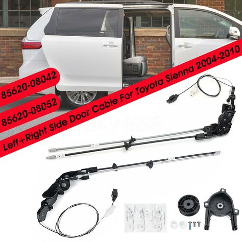 Ad Ebay Rear Power Left Right Side Sliding Door Cable W O Motor For 04 10 Toyota Sienna With Images Toyota Sienna Sliding Doors Toyota