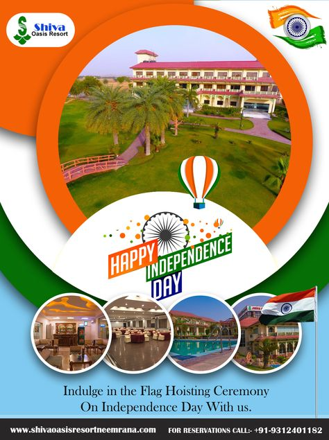 Celebrate 73rd Independence Day at Shiva Oasis Resort