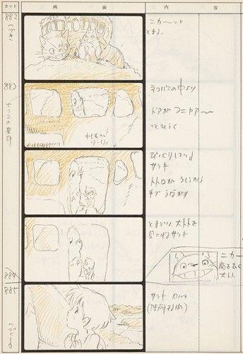 Miyazaki Hayao Totoro Storyboard  Sold Original Anime Print