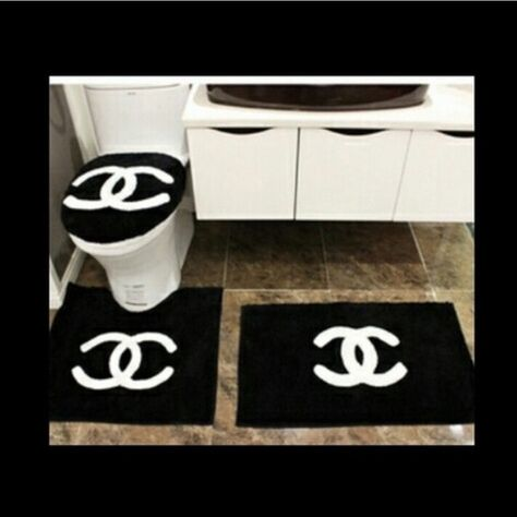 Chanel Decor Carpet Towel Sets Sheet Sets Shower Curtains