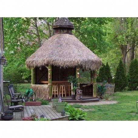 Mexican Palm Thatch Runner Roll 35 H X 8 L Gazebo Gazebo Structures Backyard Gazebo