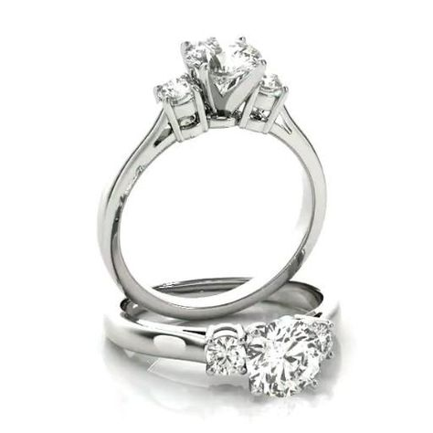 ❤Forever One Moissanite (D-F Colorless) gemstones and genuine diamond sides. #MBOM-81984