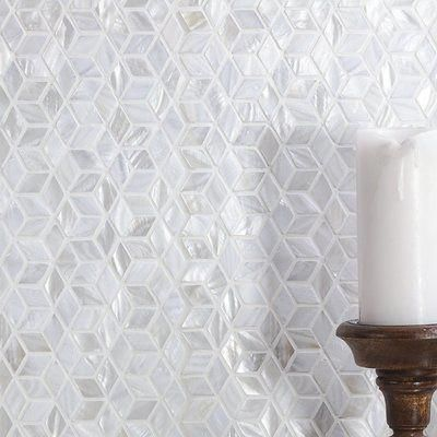 Ivy Hill Tile Pacif Random Sized Glass Pearl Shell Mosaic Tile In Polished White Pearl Bathroomtiles In 2020 Shell Mosaic Tile Ivy Hill Tile Shell Mosaic
