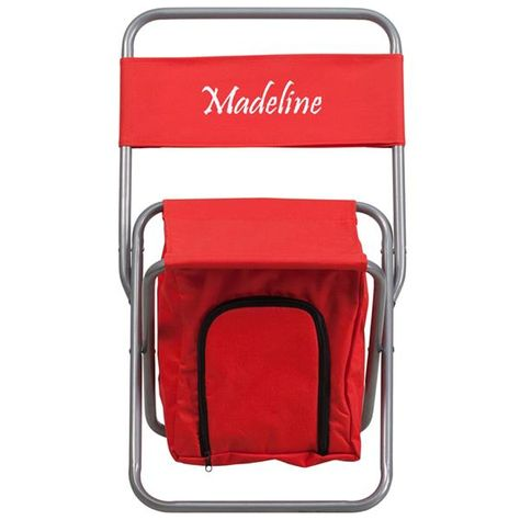 Sensational Personalized Kids Folding Red Camping Chair With Insulated Creativecarmelina Interior Chair Design Creativecarmelinacom