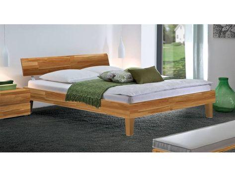 Holzbett Teramo 180x210 Cm Kernbuche Natur Fusshohe 25 Cm Massi Wood Beds Diy Outdoor Furniture Futon Bed