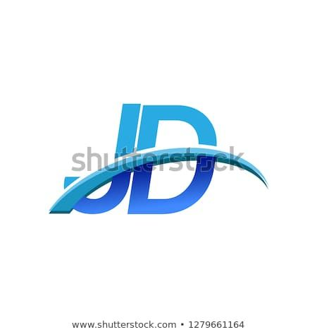 initial letter jd logotype company name colored blue and swoosh design vector logo for business and company identity initial letters company names logotype initial letter jd logotype company name
