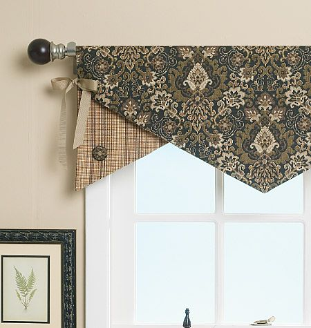 Above The Panel Created By Antique Table Cloth On Bedroom Window In Ludington A Simple Valance Handkerchiefs Hung At An Angle Over