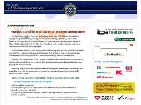 FBI-Moneypak-Virus-Scam-Pay-400-Fine   White Screen Virus Blocked