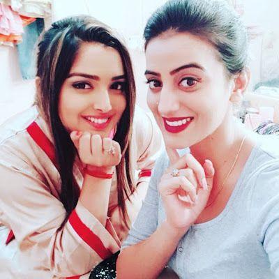 She With Akshara Singh Hd Wallpaper Bhojpuri Actress Actresses