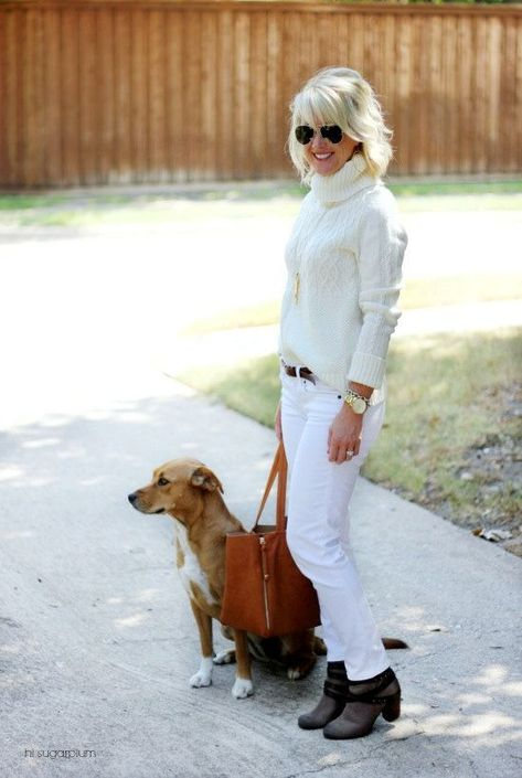 White Jeans After Labor Day | visit 40plusstyle.com for more great style!