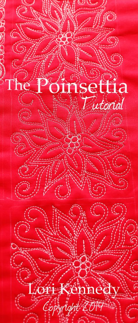 Poinsettia-Free Motion Quilting ~ Tutorial from Lori Kennedy at The Inbox Jaunt