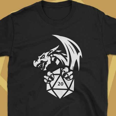 b95d5420 Dragon with D20 Dice Dungeon Master Shirt Dungeons and Dragons Shirt D&D T-Shirt  DnD Tee Nerdy Geeky