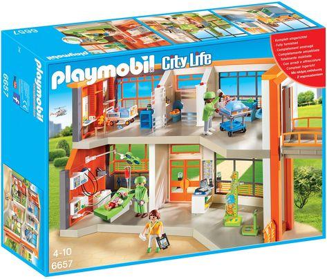 PLAYMOBIL 5574 - Luxusvilla City Life PLAYMOBIL https\/\/wwwamazon - playmobil badezimmer 4285