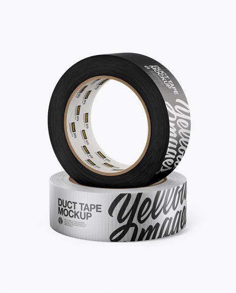 Two Metallic Duct Tape Mockup High Angle Shot Present Your Design On This Mockup Simple To Change The Color Of Different Mockup Psd Mockup Free Psd Mockup