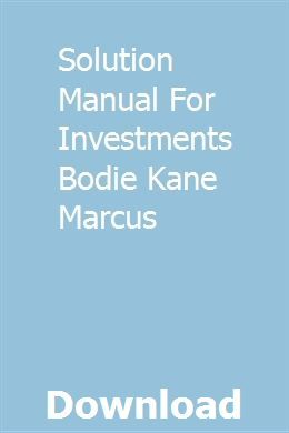 Solution Manual For Investments Bodie Kane Marcus Chilton Chilton Repair Manual Reloading Manual