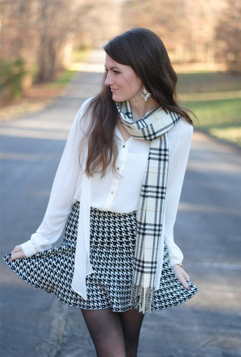 Winter White + Houndstooth