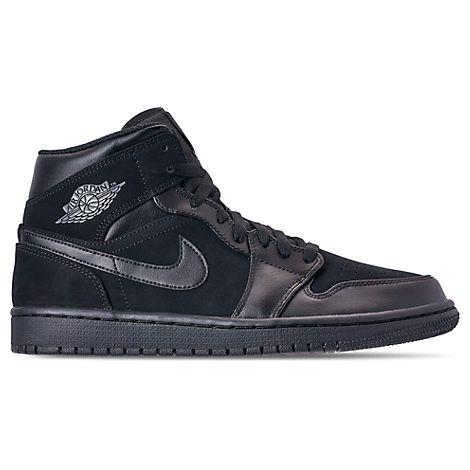 online store ba6be 971bb NIKE MENS AIR JORDAN RETRO 1 MID RETRO BASKETBALL SHOES, BLACK. nike  shoes