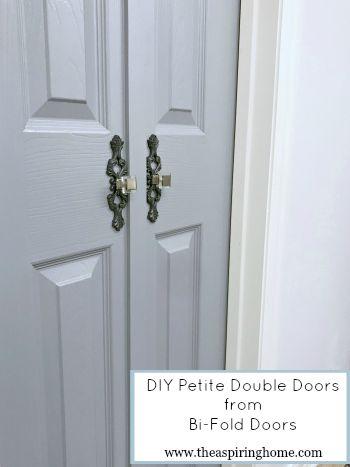 Diy Petite Double Doors From Bifold Doors Double Doors Bathroom Doors Doors