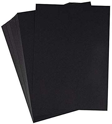 Amazon Com Black Cardstock 200 Pack 5x7 Heavyweight Smooth Cardstock 80lb 216gsm Cover Card Stock Unruled Stationery Paper Marketing Materials Stationery