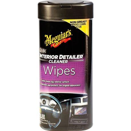 Meguiars Quik Interior Detailer Wipes Vinyl Produkter Libros