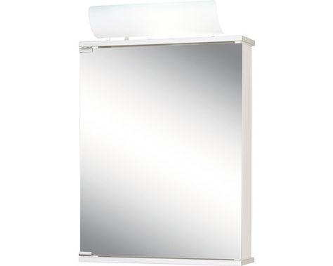 Dulap Cu Oglinda Jokey Entro Cu Iluminare 50x74 Cm Alb Aluminiu Ip 20 Dulap Iluminat și Depozitare