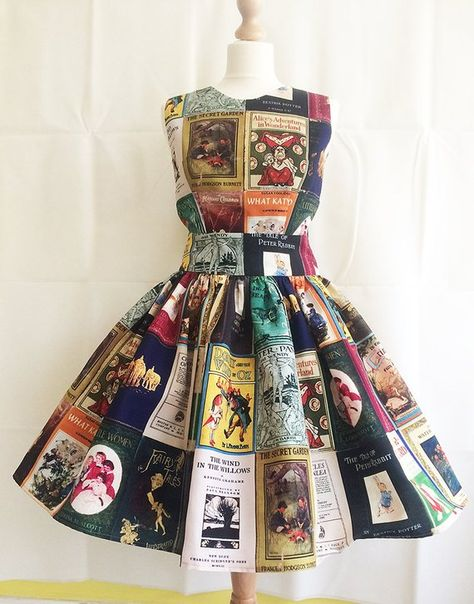 I know this is a ton of money, but I love it! I would need a size 20 in the longer length. Book Covers Dress, Adult Literature Dress, Childrens Classic Book Covers, All Sizes By Rooby Lane