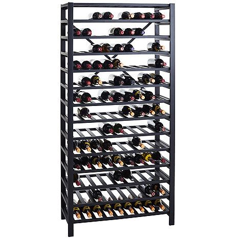 Free Standing Metal Wine Rack 126 Bottle Wine Enthusiast Wine Rack Metal Wine Rack Standing Wine Rack