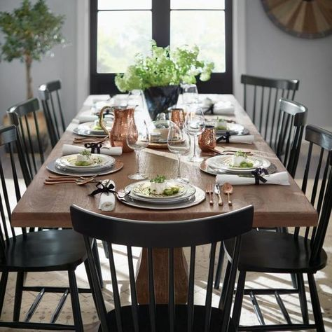 Dining Chair Set, Rustic Dining, Rustic Dining Table, Farm House Living Room, Casual Dining Rooms, Dining Room Style, Rustic Dining Room, Farmhouse Dining, Dining