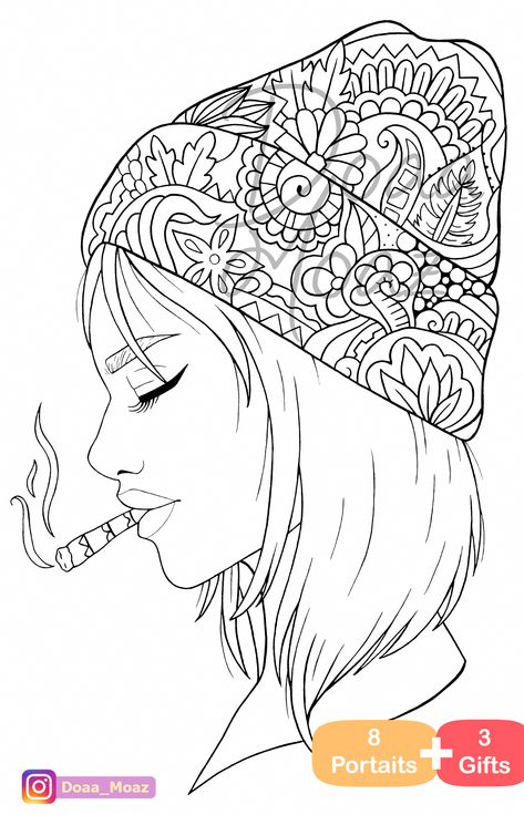 Adult Coloring Book 8 Gray Scale Portraits Coloring Pages Pdf