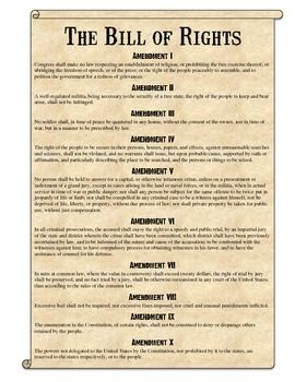 bill of rights scenarios analysis worksheet  teaching government to