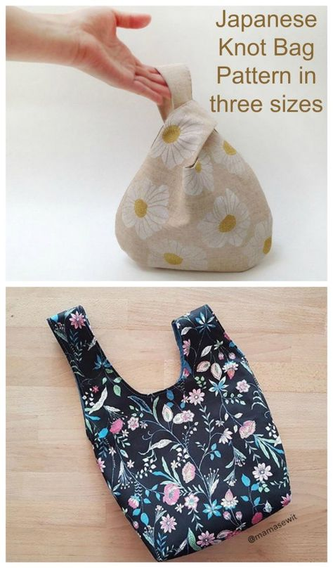 Japanese Knot Bag Pattern - Sew Modern Bags Sewing pattern for a Japanese Knot . Japanese Knot Bag Pattern – Sew Modern Bags Sewing pattern for a Japanese Knot Bag. This simple Japanese Sewing Patterns, Easy Sewing Patterns, Bag Patterns To Sew, Apron Patterns, Dress Patterns, Sew Over It Patterns, Bag Sewing Pattern, Bag Pattern Free, Japanese Knot Bag