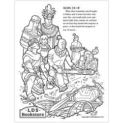 Anti Nephi Lehies Book Of Mormon Coloring Page Printable In 2020 Coloring Pages Lds Coloring Pages Jesus Coloring Pages