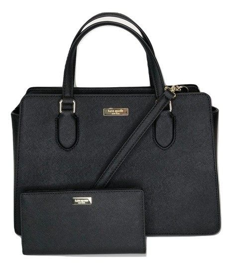 Kate Spade Laurel Way Reese and Matching Stacy Wallet Black