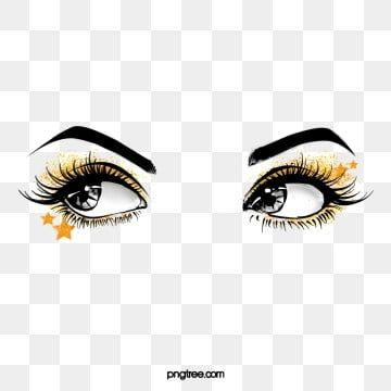 Hand Painted Black Curled Thick Eyelashes Star Eye Makeup Eyes Black And White Hand Painted Charm Png Transparent Clipart Image And Psd File For Free Downlo Makeup Clipart Makeup Eyelashes Thicker