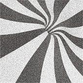Geometric triangles background. Mosaic. Black and white grainy...